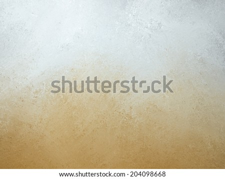 orange white background, burnt orange bottom border and gray white top border layout, blended orange and white paint with old smeared and detailed texture, aged distressed vintage backdrop - stock photo