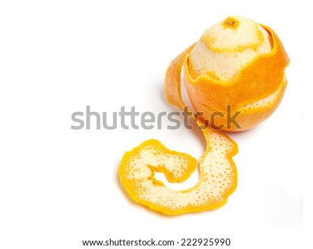 orange with peel stripped. ingredients for hot drinks