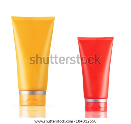 Orange With Red Blank Tube - stock photo
