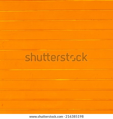 orange wooden background of beach huts in Miami - stock photo