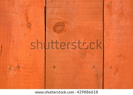 Orange wooden new farm wall planks background and texture - stock photo