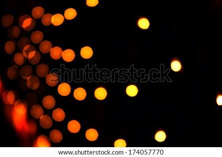 orange&yellow bokeh abstract light background - stock photo