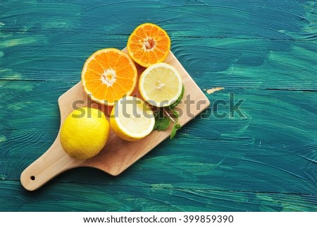 Oranges and lemons. Healthy food.  - stock photo