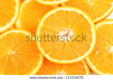 Oranges close up - stock photo