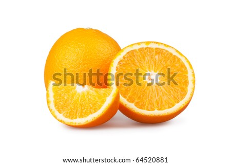 oranges  isolated on white background - stock photo