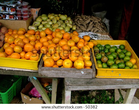 Oranges - market display