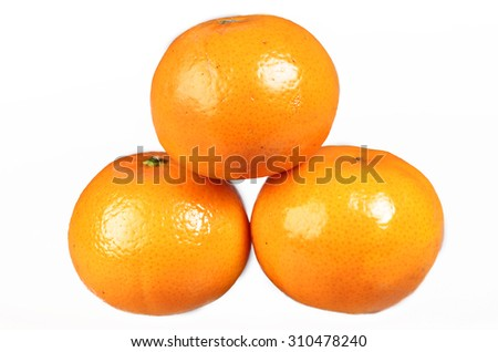 Oranges on a white background - stock photo