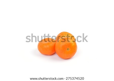oranges on white background