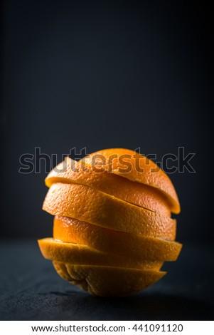 Oranges slice pile - stock photo