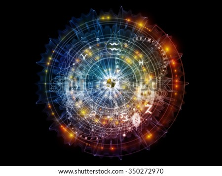 Orbits of Destiny series. Background composition of  sacred symbols, signs, geometry and designs to complement your layouts on the subject of astrology, alchemy, magic, witchcraft and fortune telling
