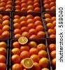 order in orange - stock photo