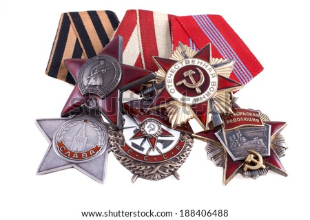 Order of the USSR during the Great Patriotic War - stock photo