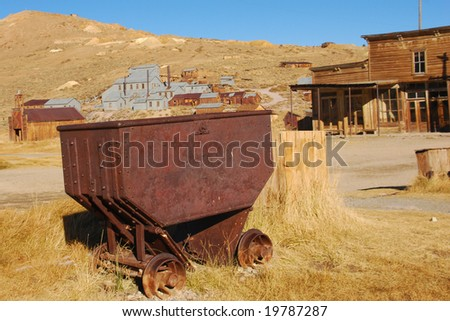 Ore car in Bodie - stock photo