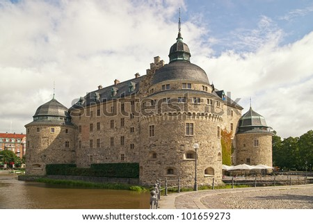 Orebro Castle. The medieval castle fortification in Orebro, Narke, Sweden.
