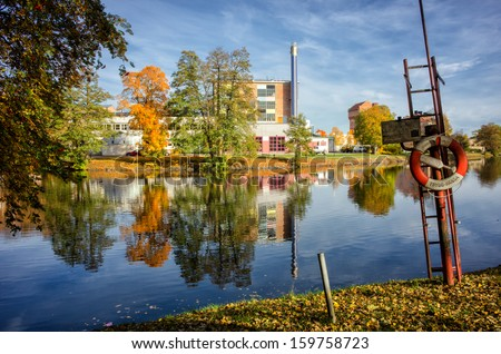 OREBRO,SWEDEN - OCTOBER 11: The eastern part of Orebro University Hospital viewed from Wadkoping on October 11, 2013 in Orebro. The hospital is one of seven university hospitals in Sweden.