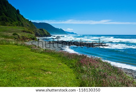 Oregon Coast Beach - stock photo