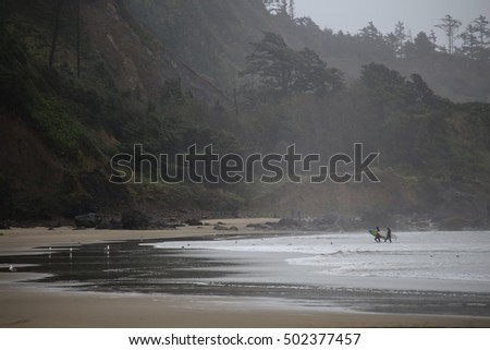 Oregon Coast surfing