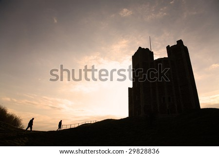 orford castle suffolk england - stock photo