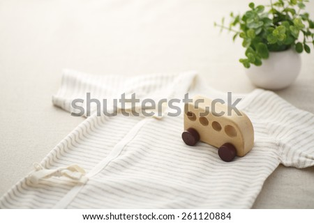 Organic baby clothes - stock photo