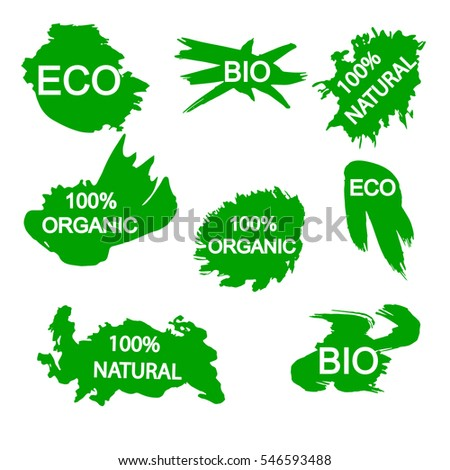 organic, bio, eco, natural stickers