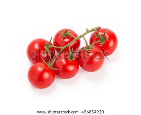 organic cherry tomatoes, isolated on white