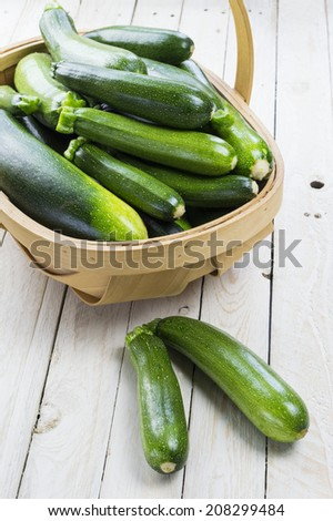 Organic Courgette Harvest