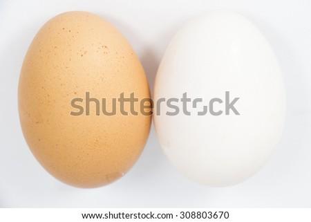 Organic Duck eggs vs Chicken eggs and preserved egg - stock photo