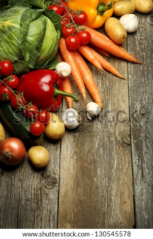 organic food background Vegetables - stock photo