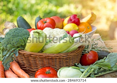 Organic food - healthy food - stock photo
