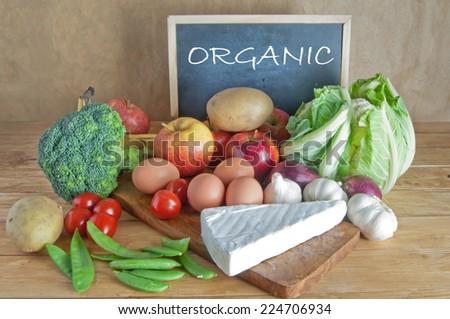 Organic foods  - stock photo