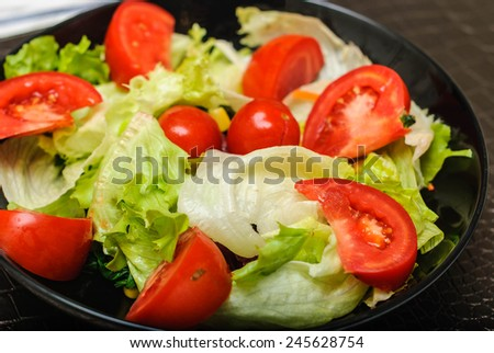 organic fresh red tomato in salad