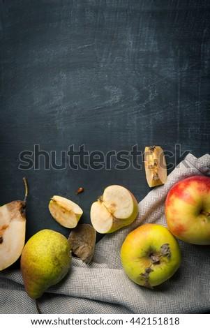 Organic Fruit background - stock photo