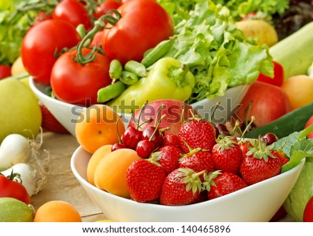 Organic fruits and vegetables - fresh food