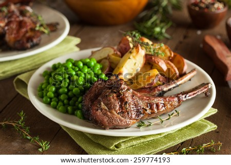 Organic Grilled Lamb Chops with Garlic and Lime