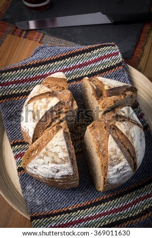 Organic homemade bread - stock photo