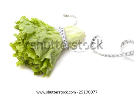organic lettuce on white background