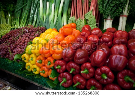 Organic market - stock photo