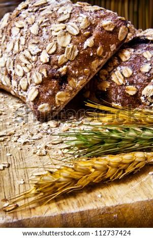 Organic multigrain bread - stock photo