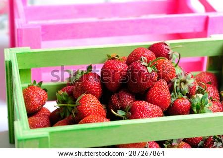 organic natural strawberry - stock photo