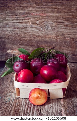 organic plums fruit