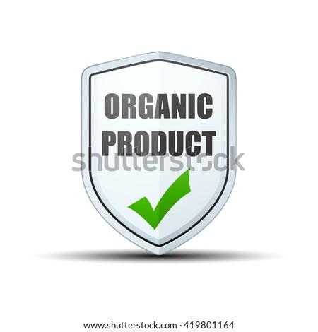Organic Product shield sign - stock photo