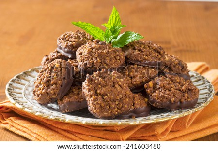 Organic Quinoa Chocolate Cookies  - stock photo