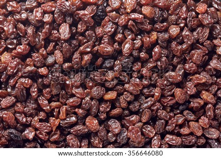 organic raisin - stock photo