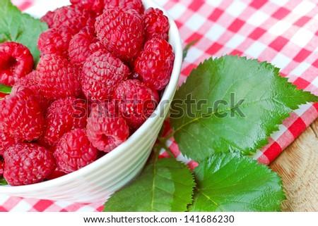 Organic raspberry - stock photo
