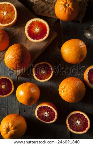 Organic Raw Red Blood Oranges on a Background - stock photo