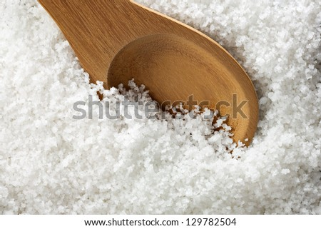 Organic Sea Salt - stock photo