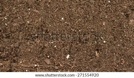 Organic soil close up. Background - stock photo