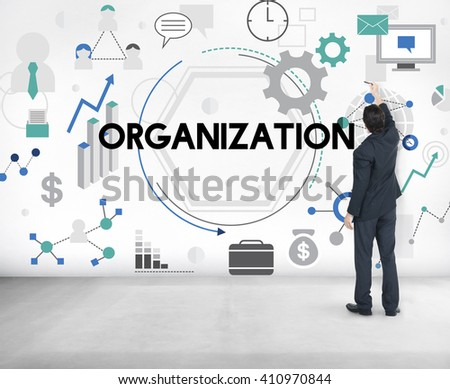 Organization Business Corporate Management Concept - stock photo