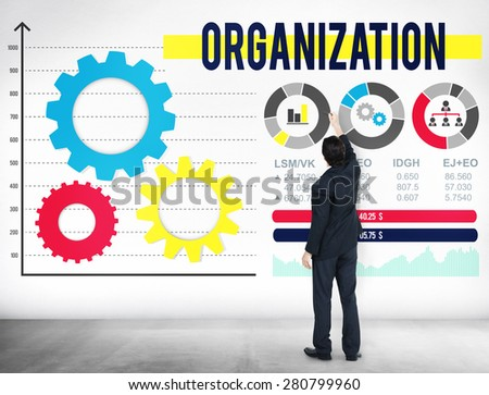 Organization Business Management Productivity Concept - stock photo