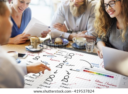 Organization Chart Management Planning Concept - stock photo
